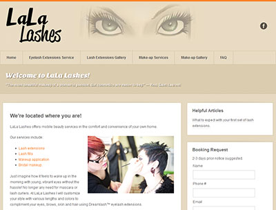 LaLa Lashes website